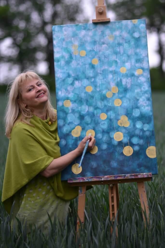 Bożena Bieleniewicz iobraz namalowany według Vedic Art